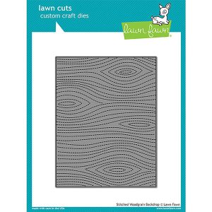 Lawn Fawn Stitched Woodgrain Backdrop Lawn Cuts