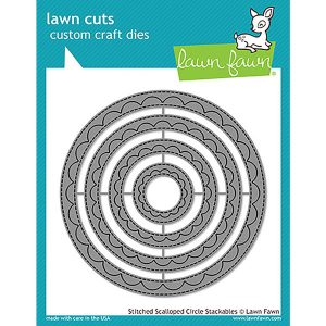 Lawn Fawn Outside In Stitched Scalloped Circle Stackables Lawn Cuts