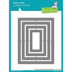 Lawn Fawn Outside In Stitched Scalloped Rectangle Stackables Lawn Cuts