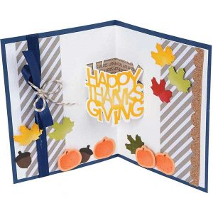 Sizzix Happy Thanksgiving Thinlits 3-D Drop Ins by Stephanie Barnard class=