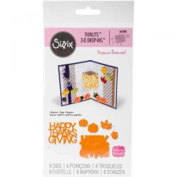 Sizzix Happy Thanksgiving Thinlits 3-D Drop Ins by Stephanie Barnard