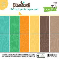 "Lawn Fawn Knock On Wood Petite Paper Pack - 6"" x 6"""