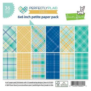 "Lawn Fawn Perfectly Plaid Chill Petite Paper Pack - 6"" x 6"""