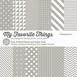 "My Favorite Things Gray & White Basics Paper Pack - 6"" x 6"""