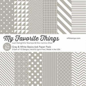 My Favorite Things Gray & White Basics Paper Pack – 6″ x 6″