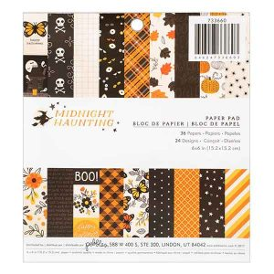 "Pebbles Midnight Hauntings Paper Pad - 6"" x 6"""