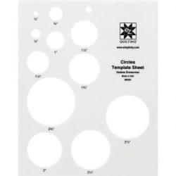 Circle Template Sheet