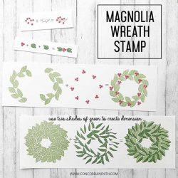 Concord & 9th Magnolia Wreath Stamp Set