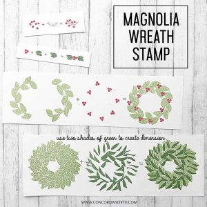 Concord & 9th Magnolia Wreath Stamp Set class=