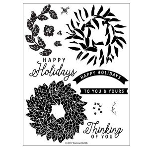Concord & 9th Magnolia Wreath Stamp Set