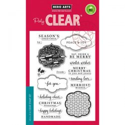 Hero Arts Holiday Messages and Tags Stamp Set