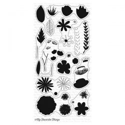 My Favorite Things Rustic Wildflowers Stamp Set