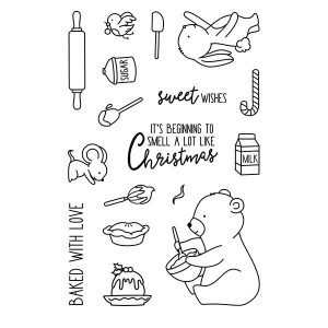Neat & Tangled Holiday Baking Stamp Set class=