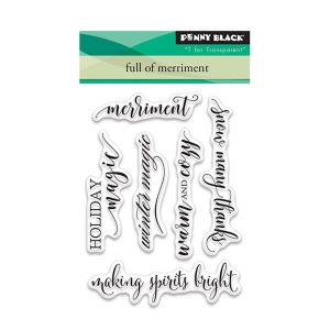 Penny Black Full of Merriment Stamp Set