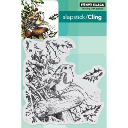 Penny Black Snowy Perch Slapstick/Cling Stamp