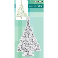 Penny Black Starry Tree Slapstick/Cling Stamp