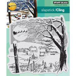 Penny Black Santa's Visit Slapstick/Cling Stamp