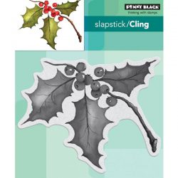 Penny Black Holly Sprig Slapstick/Cling Stamp