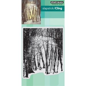 Penny Black Winter's Forest Slapstick/Cling Stamp