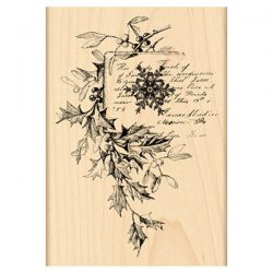 Penny Black Snowflake and Holly Mounted Rubber Stamp