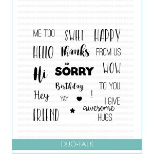Studio Katia Duo Talk Stamp Set