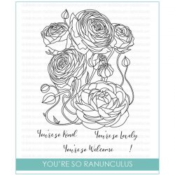 Studio Katia You're So Ranunculus Stamp Set
