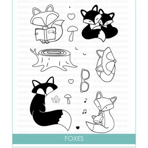 Studio Katia Foxes Stamp Set