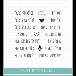 Studio Katia And The Fox Says...Stamp Set