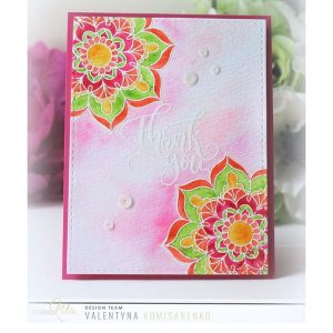 Studio Katia Mandala Flower Stamp Set class=