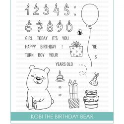Studio Katia Kobi the Birthday Bear Stamp Set