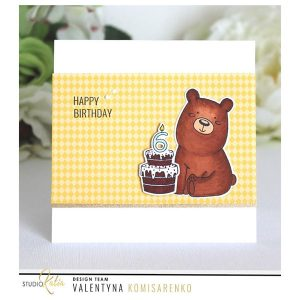 Studio Katia Kobi the Birthday Bear Die Set class=