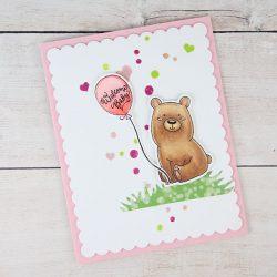 Studio Katia Kobi the Birthday Bear Die Set