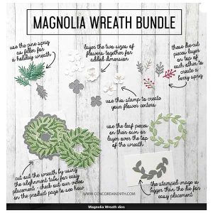 Concord & 9th Wreath Bundle (stamps & dies)
