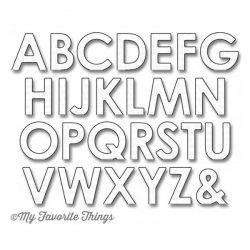 My Favorite Things Pop-Up Alphabet Die-namics