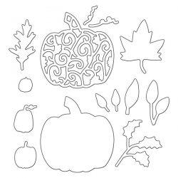 Penny Black Pumpkins & Leaves Die Set