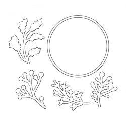 Penny Black Layered Xmas Wreath Die Set