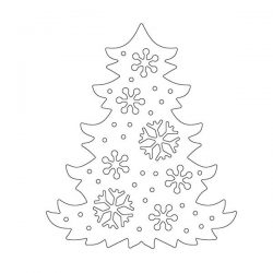 Penny Black Snowflake Tree Die Set