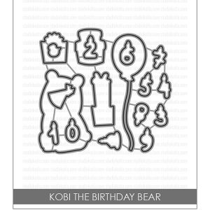Studio Katia Kobi the Birthday Bear Die Set