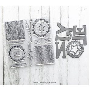 Concord & 9th Joyful Noel Stamp and Die Bundle