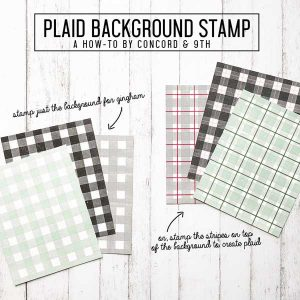 Concord & 9th Plaid Background Stamp Set class=