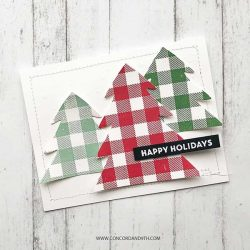 Concord & 9th Plaid Background Stamp Set