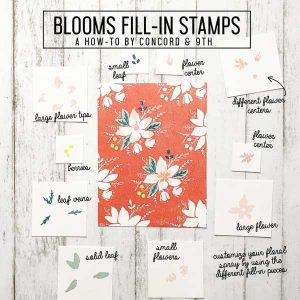 Concord & 9th Blooms Fill-In Stamp Set class=