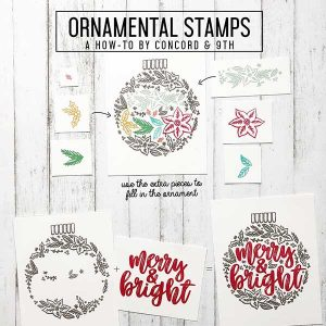 Concord & 9th Ornamental Stamp Set class=