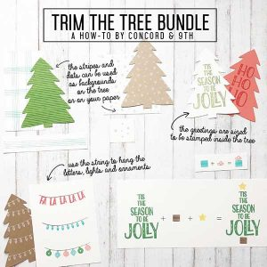 Concord & 9th Trim The Tree Stamp Set class=