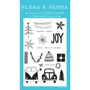 Flora & Fauna Driving to the Holidays Stamp Set