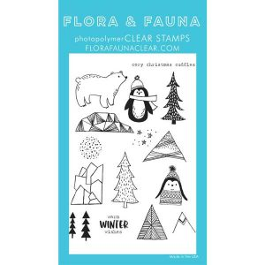Flora & Fauna Cozy Cuddles Penguin Stamp Set