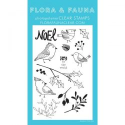 Flora & Fauna Winter Aviary Stamp Set