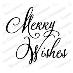 Impression Obsession Merry Wishes Cling Stamp