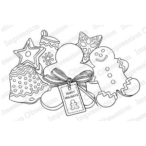 Impression Obsession Christmas Cookies Cling Stamp