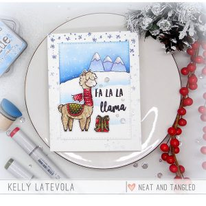 Neat & Tangled Fa La Llama Stamp Set class=